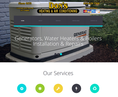 Heating and Air Conditioning Website Design Portfolio MI