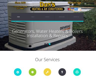 Heating and Air Conditioning Website Design Portfolio MI