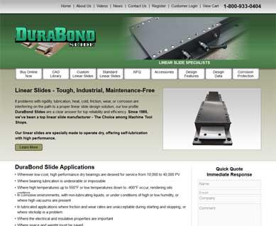 Manufacturing Website Design Portfolio Michigan