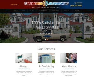 Heating and Air Conditioning Website Design Portfolio Michigan