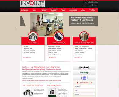 Industrial Web Design Portfolio Michigan