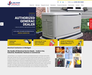 Electrician Website Design Portfolio Michigan
