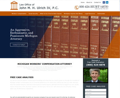 Lawyer Website Design Portfolio Michigan