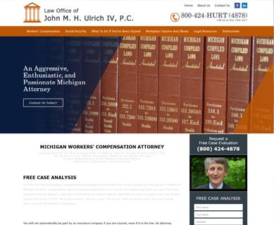 Lawyer Website Design Portfolio Michigan