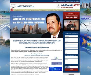 Attorney Website Design Portfolio Michigan