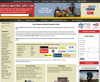 eCommerce Website Portfolio Design MI
