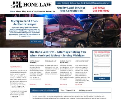 Website Designers for Attorneys Portfolio Michigan